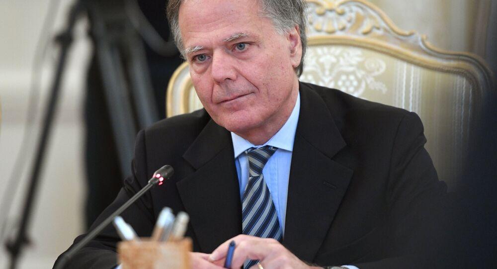 L'incontro tra i ministri degli Esteri italiano e russo, Enzo Moavero Milanesi e Sergei Lavrov