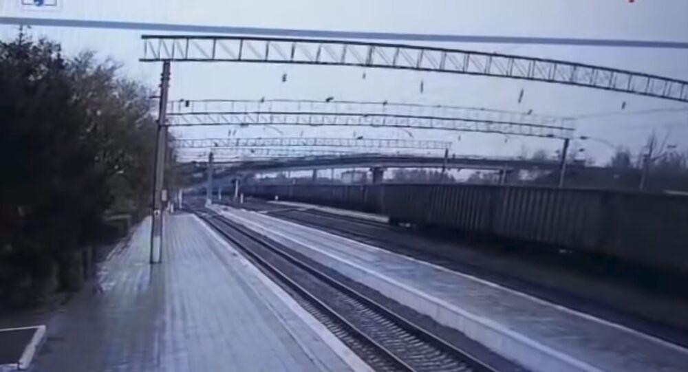 Il crollo del ponte sulla Transiberiana