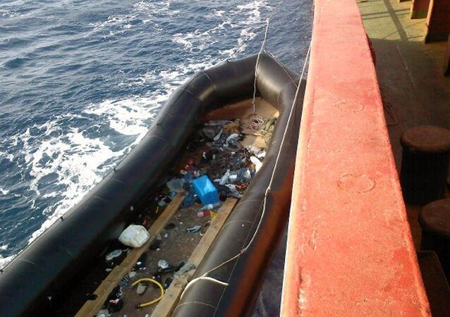 Un barco di immigrati
