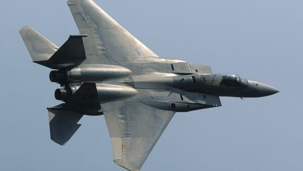An F-15 Eagle American fighter. (File) - Sputnik Italia