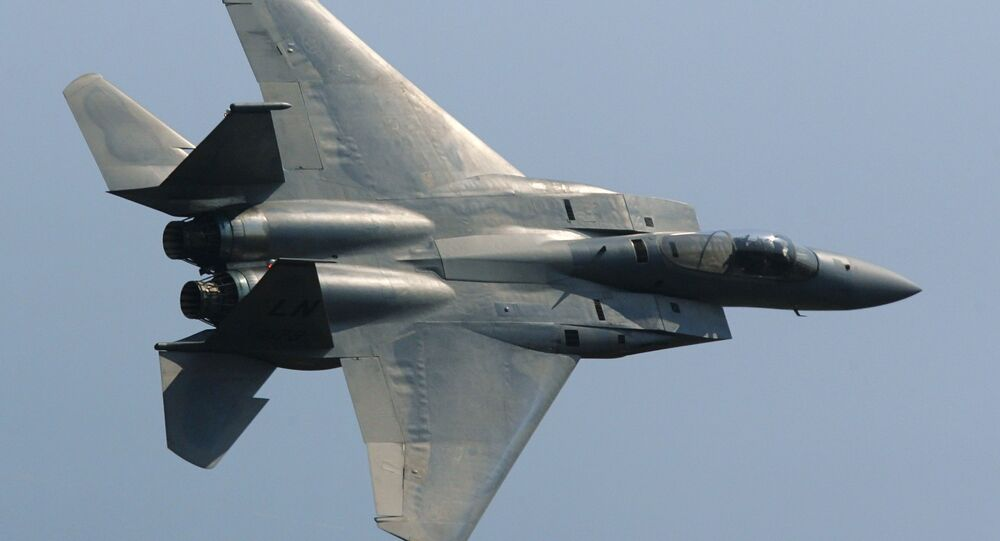 An F-15 Eagle American fighter. (File)