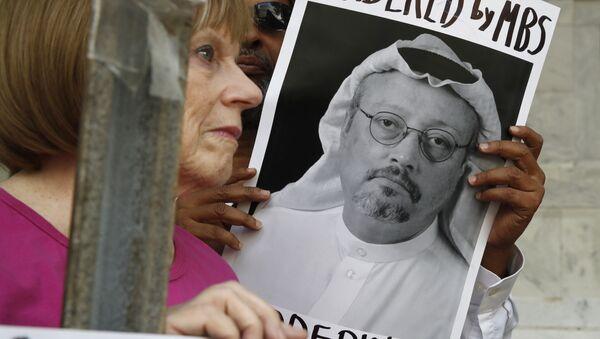 Proteste a Washington nel quadro della scomparsa di Khashoggi - Sputnik Italia