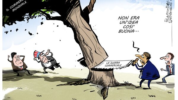 Stimati i danni causati a economia mondiale da guerra commerciale americana - Sputnik Italia