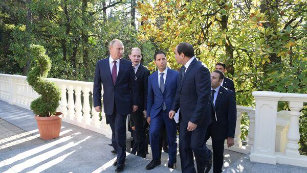 Incontro tra Vladimir Putin e Abdel Fattah al-Sisi - Sputnik Italia