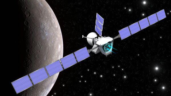 Иллюстрация, изображающая космический аппарат BepiColombо на подлете к Меркурию - Sputnik Italia
