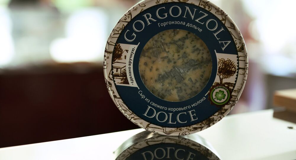 il Gorgonzola dolce presentato al festival panrusso di formaggi a Mosca