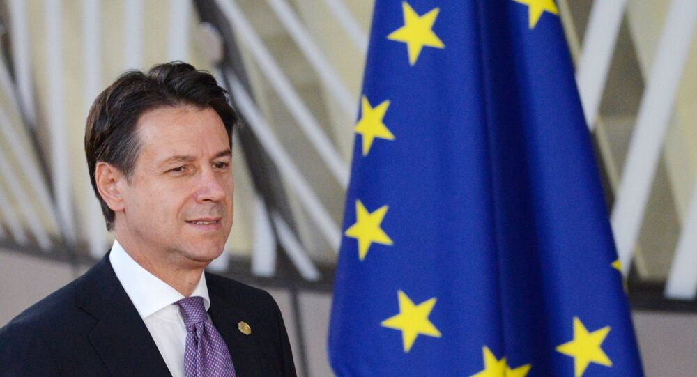 Giuseppe Conte alla seduta del Consiglio d'Europa