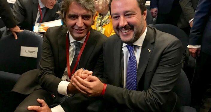 Matteo Salvini e Federico Sboarina