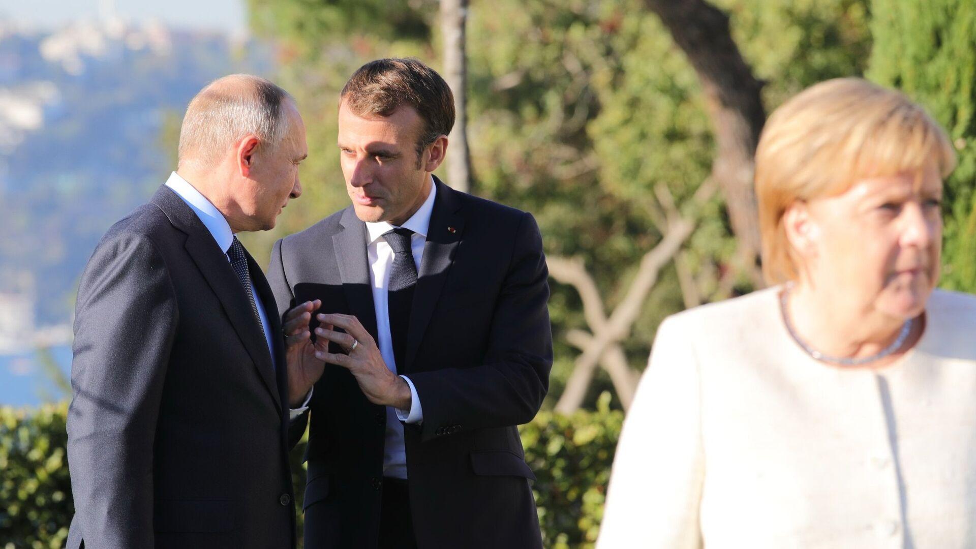 Ottobre 27, 2018, L'incontro sulla Siria tra Vladimir Putin, Emmanuel Macron, Angela Merkel e Recep Tayyip Erdogan - Sputnik Italia, 1920, 27.06.2021