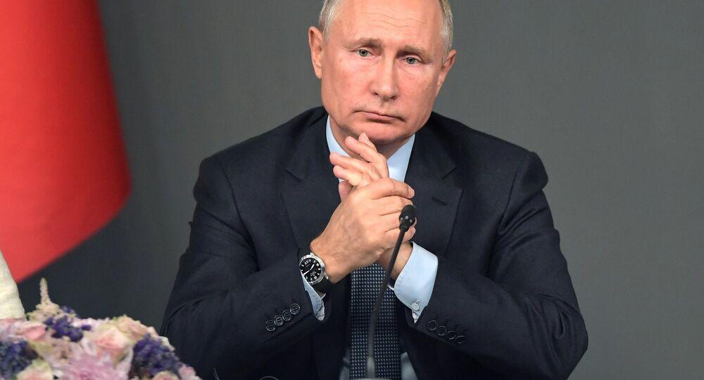 Vladimir Putin durante la sua visita in Turchia