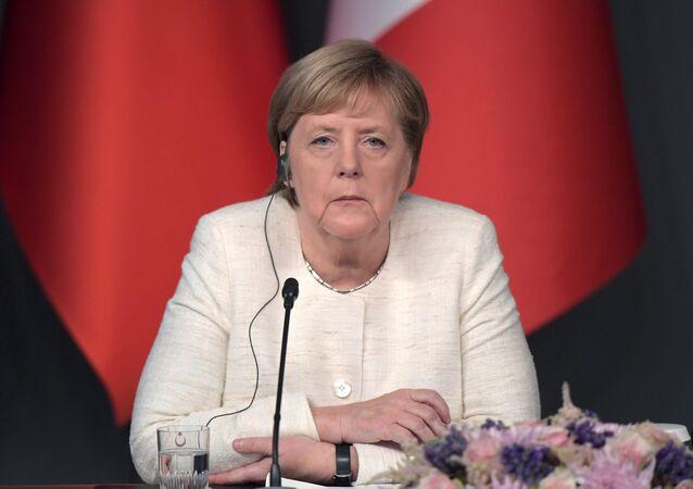 Angela Merkel durante la sua visita in Turchia