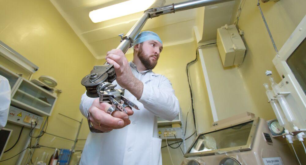 Una fase delle ricerche all'Università di Tomsk