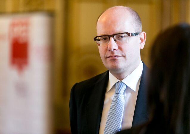 Il primo ministro ceco Bohuslav Sobotka