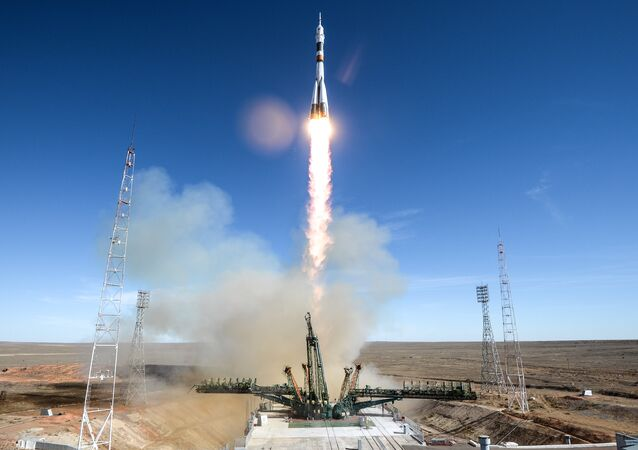 The launch of the Soyuz-FG on October 11