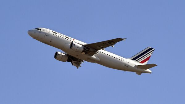 An Air France Airbus A320 takes off from Toulouse-Blagnac airport on February 10, 2015. - Sputnik Italia