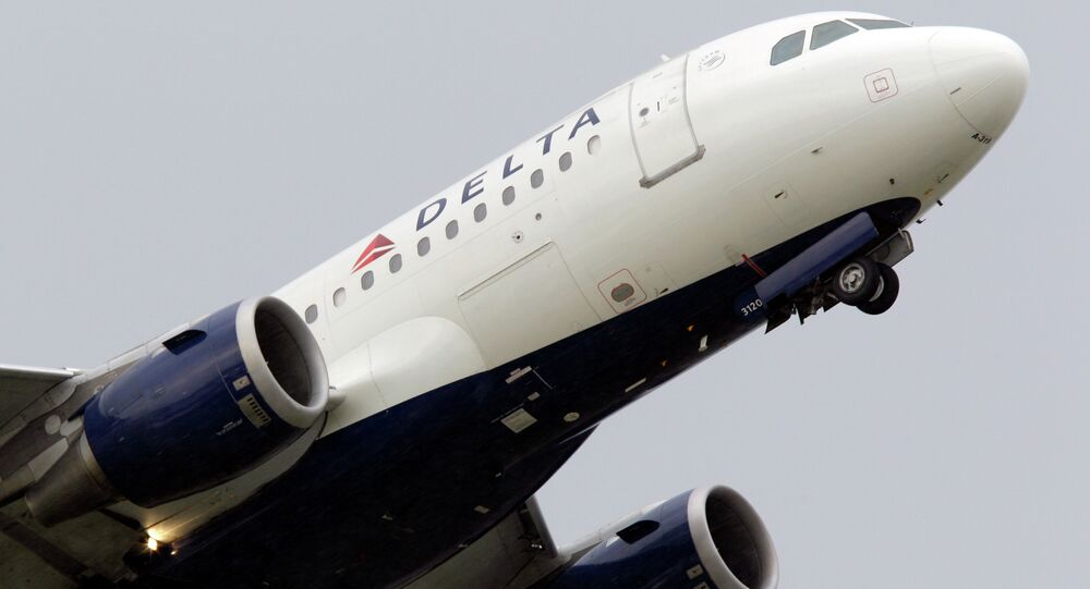 Delta airlines jet takes off at the Detroit Metropolitan Airport in Romulus, Mich. Delta spokesperson Brian Kruse stressed that the airlines does not condone discrimination of any kind.