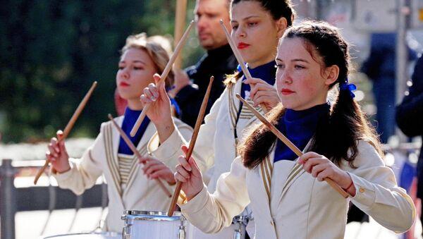 I partecipanti della manifestazione dedicata alla Giornata dell'unità nazionale a Sebastopoli. - Sputnik Italia