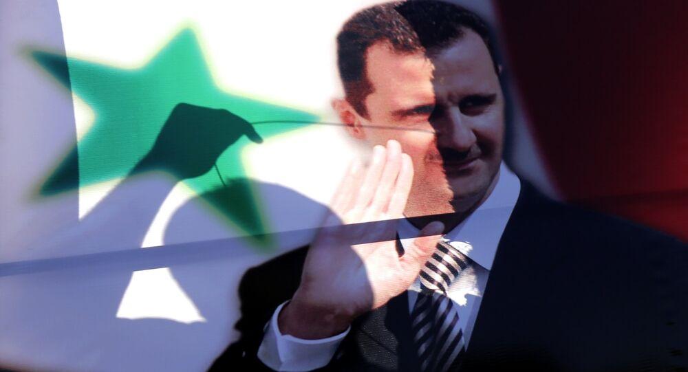 Immagine del presidente siriano Bashar al-Assad