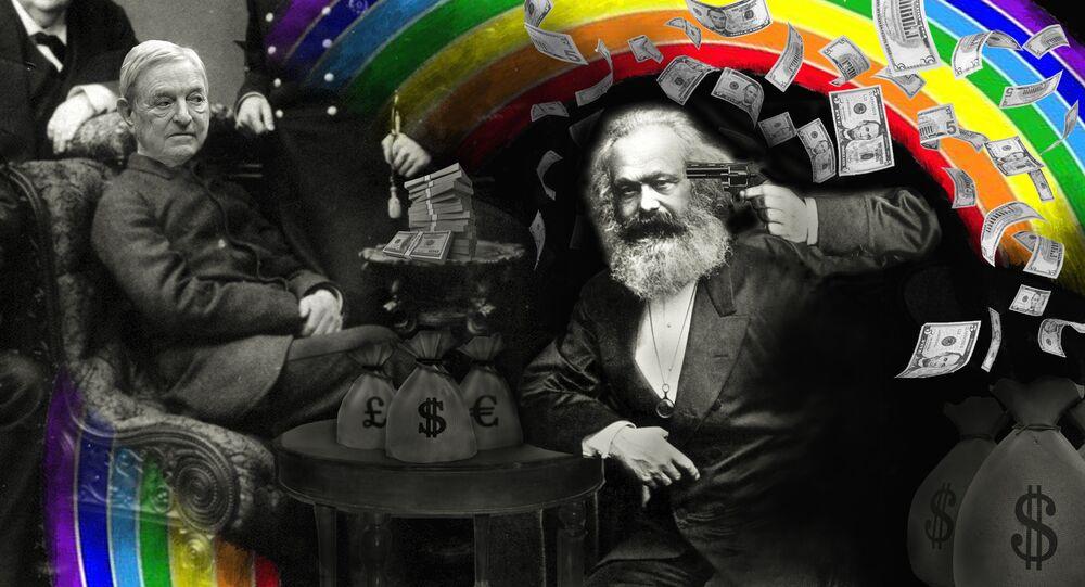 Il suicidio di Karl Marx - olio su tela