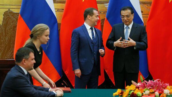 Il 23° incontro dei capi di governo di Russia e Cina, Dmitry Medvedev e Li Keqiang - Sputnik Italia
