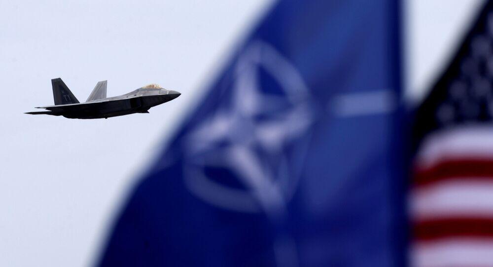 Bandiere di NATO e USA