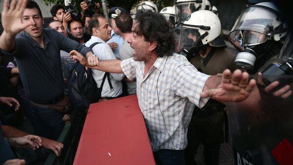 Le proteste in Grecia - Sputnik Italia