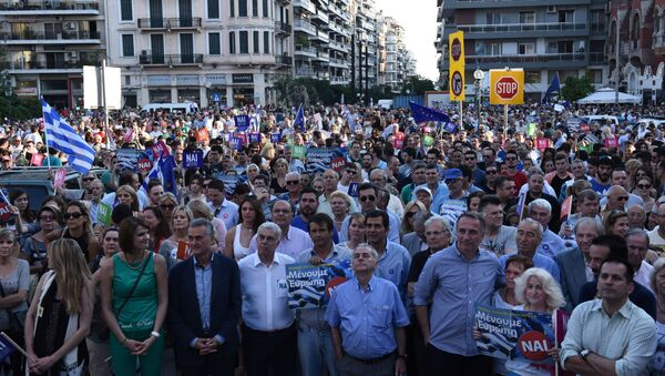 Le proteste in Grecia (foto d'archivio) - Sputnik Italia