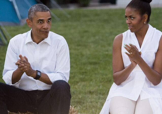 Barack e Michelle Obama alla Casa Bianca a Washington