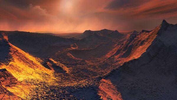 L'immagine artistica del pianeta scoperto nella vicino alla stella Barnard - Sputnik Italia