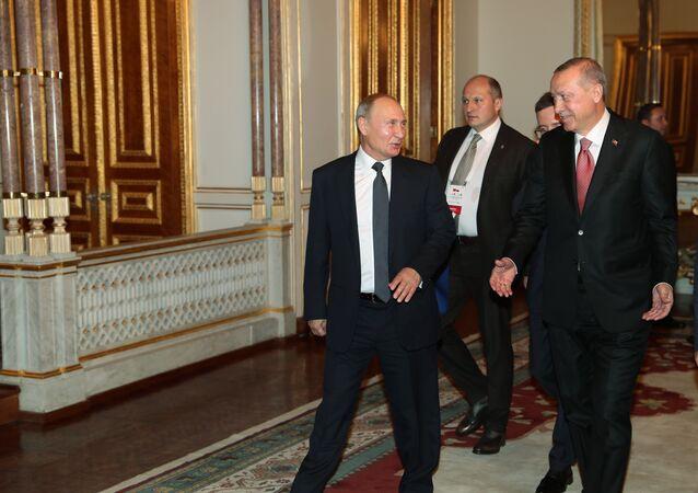 Vladimir Purin e Tayyip Erdogan