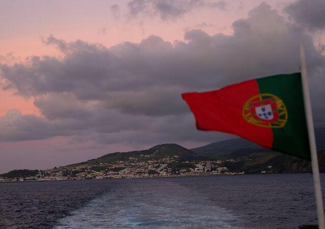 Isola Do Faial nell'arcipelago delle Azzorre
