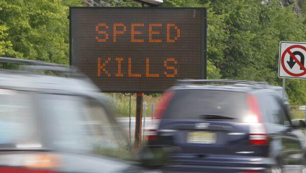 A sign warns motorists on Interstate 89. - Sputnik Italia
