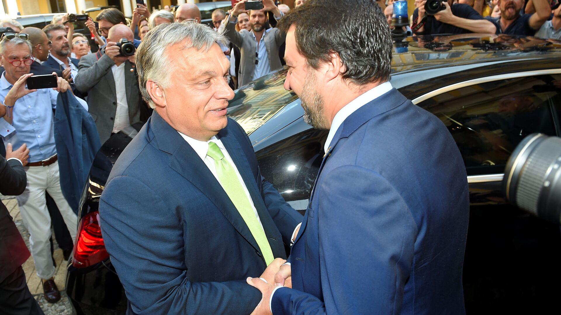 Viktor Orban e Matteo Salvini - Sputnik Italia, 1920, 01.04.2021