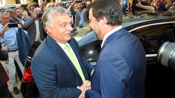 Viktor Orban e Matteo Salvini - Sputnik Italia