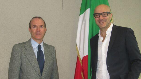Gianluca Savoini e Gianmarco Senna - Sputnik Italia