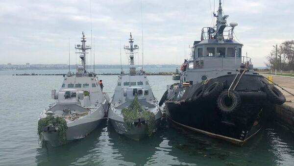 Le navi ucraine sequestrate - Sputnik Italia
