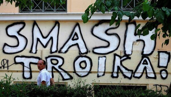 Graffiti della Troika ad Atene - Sputnik Italia