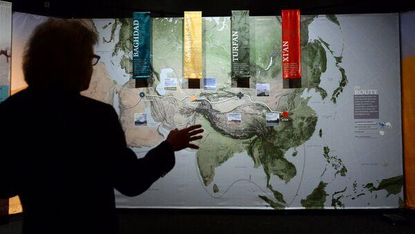 L'esposizione Viaggiano lungo la Via della Seta: una via antica al mondo moderno al museo della storia natura a Los Angeles, California. - Sputnik Italia
