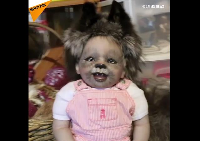 Le bambole di Julia Hamill assomigliano ai bambini-mostri.