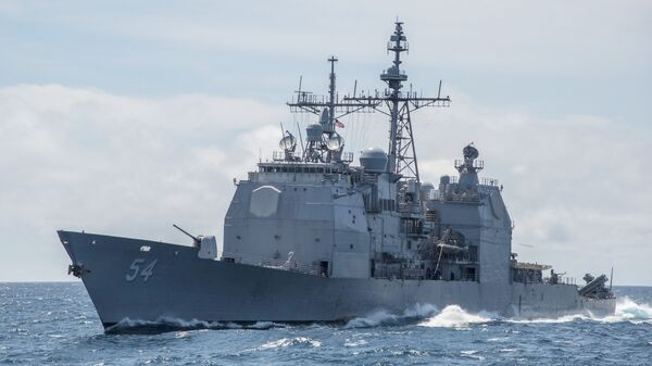 Nave Usa della classe Ticonderoga nel Mar Cinese Meridionale - Sputnik Italia