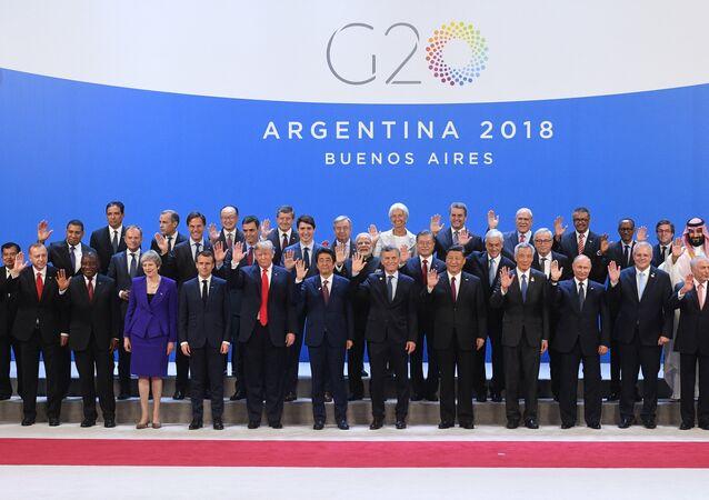 I leader dei paesi G20 al vertice di Buenos Aires