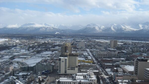 Anchorage, Alaska, view from a helicopter - Sputnik Italia