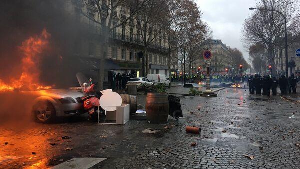 Parigi, Gilet gialli di nuovo in piazza - Sputnik Italia
