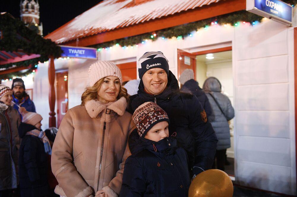 Il ginnasta Alexey Nemov con la famiglia.