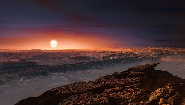 An artist's impression of the view from Proxima Centarui b, a newly discovered Earth-sized planet just four light-years away. It is unclear if there is intelligent life in the universe, but searches continue to find Earth-sized planets in the habitable zones of their respective stars - Sputnik Italia