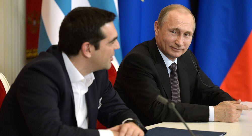 Il premier greco Alexis Tsipras e il presidente russo Vladimir Putin