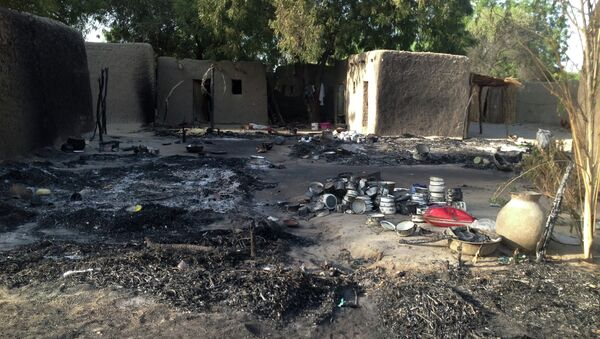 A picture taken on February 13, 2015 shows the village Nougboua after it was attacked by Nigeria's Boko Haram rebels - Sputnik Italia