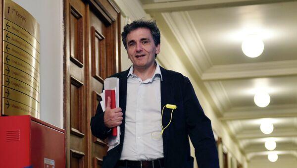 Nuovo ministro delle Finanze greco Euclid Tsakalotos - Sputnik Italia