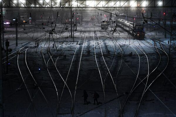 I treni alla stazione di Novosibirsk. - Sputnik Italia
