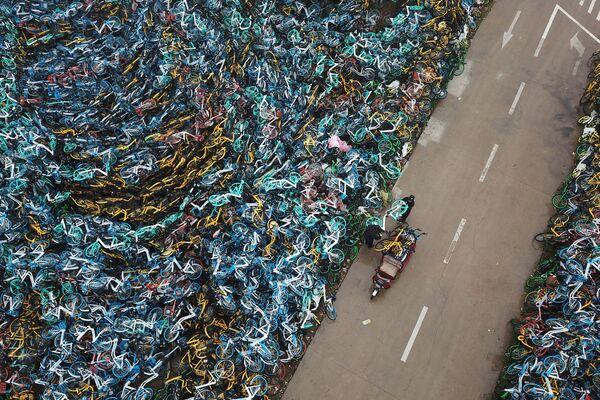 Il cimitero delle biciclette nella Cina. - Sputnik Italia
